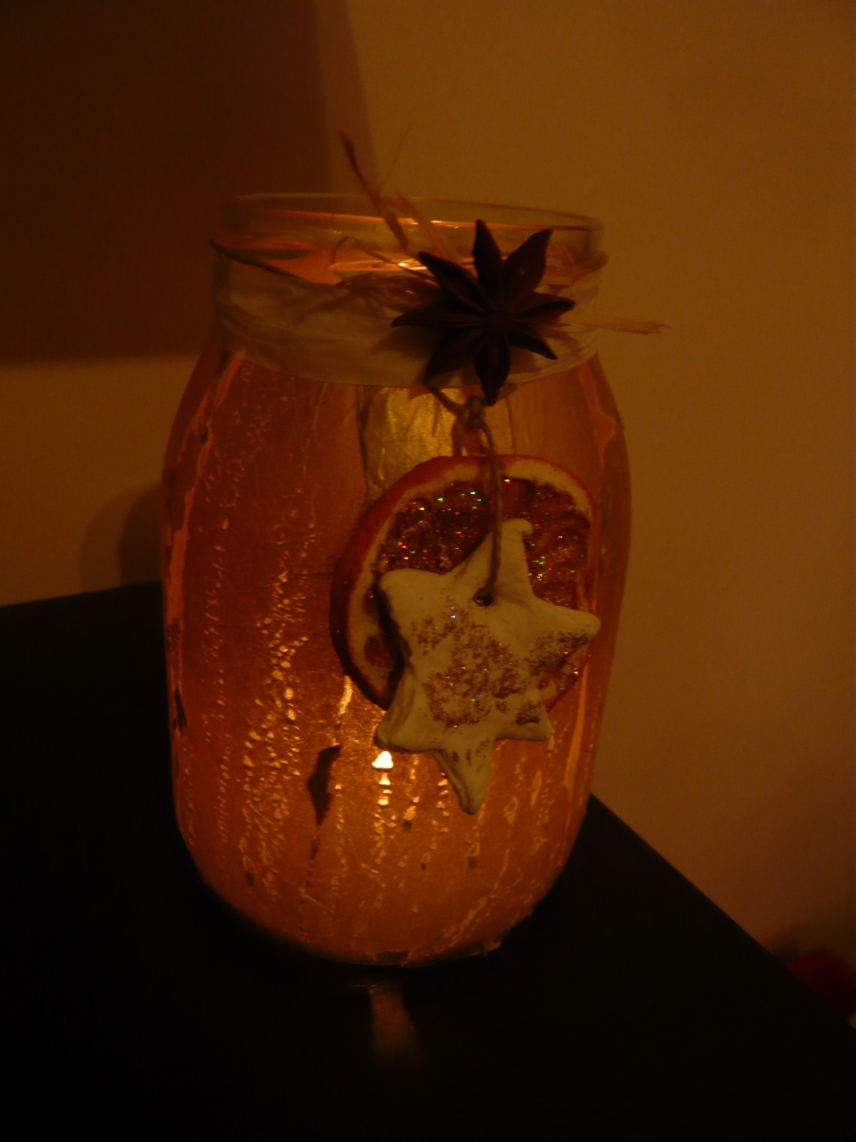 Vitto e libri vaso porta candela natalizio - Arance secche decorazione ...