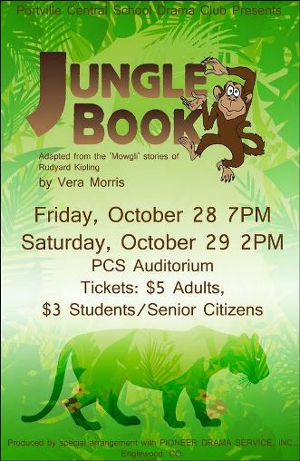 10-28/29 Jungle Book Portville Central School