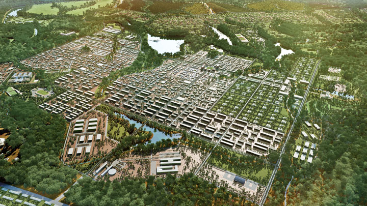 Master Plan For The New Capital City Of Equatorial Guinea By IDF Ideias Do Futuro Located On Wele Nzas Designed 160000 Inhabitants 20 Acres
