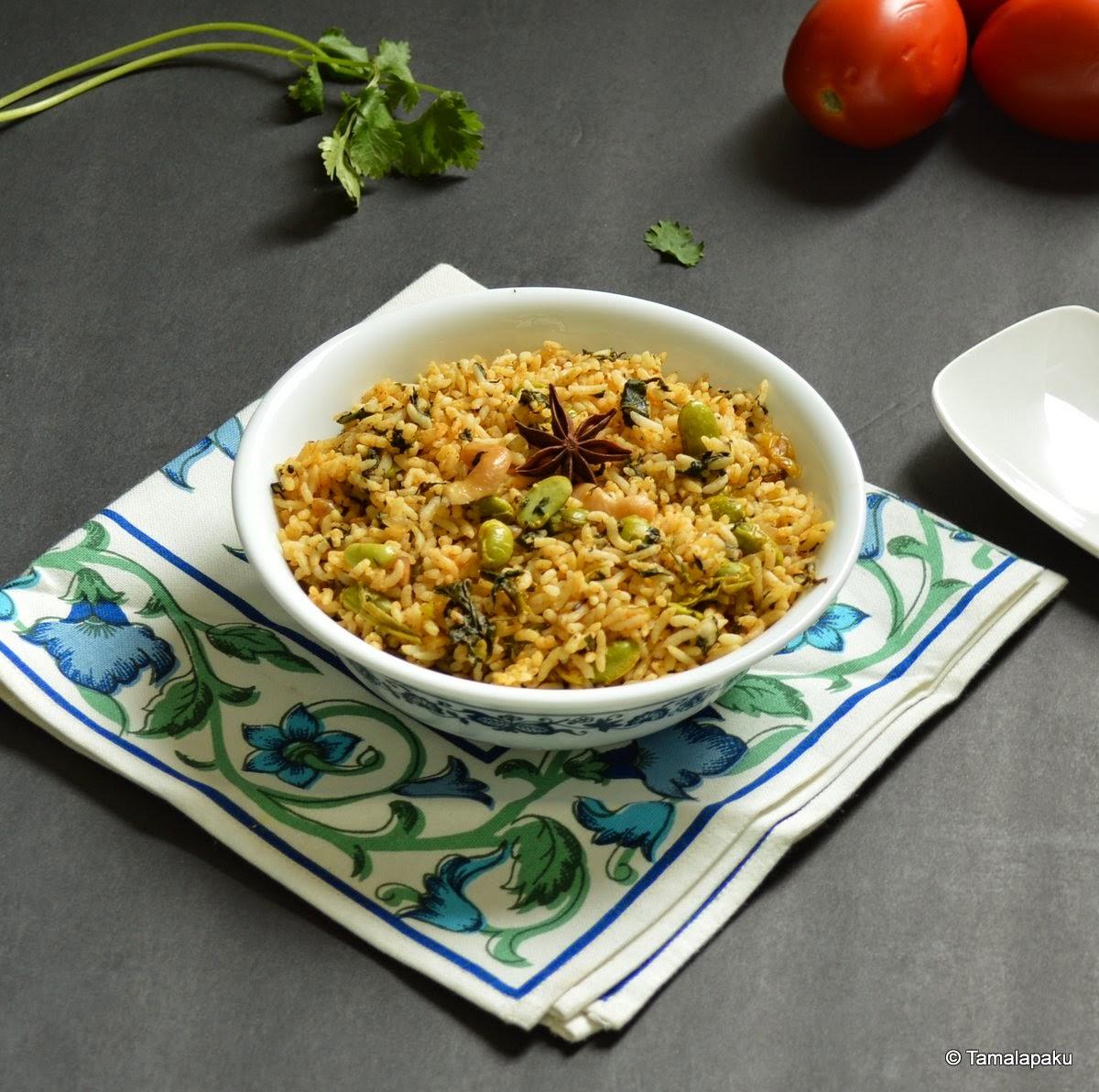 Palak Edamame Rice