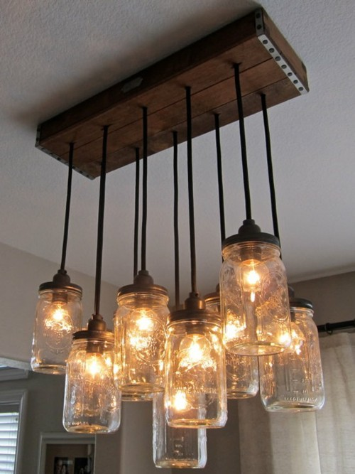 DIY Mason Jar Chandelier Part 1