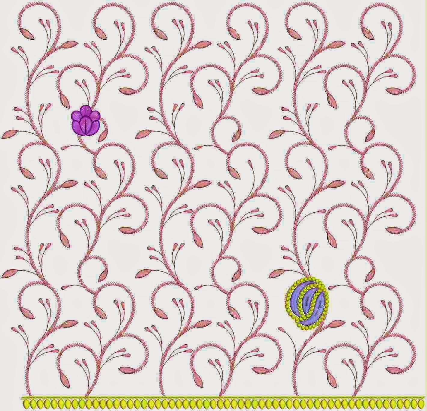 super hand borduurwerk ontwerp van Kort dupatta