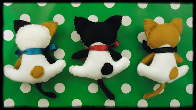 Kawaii felt cats