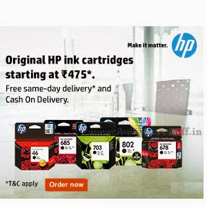 Buy Printer Cartridge Extra 58% off & 1000 Cashback : buy To Earn