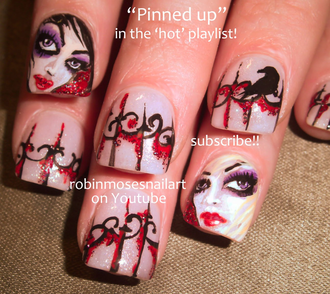 "Robin Moses Nail Art Designs: Robin Moses Nail Art: ""halloween Nails"" ""halloween Nail"