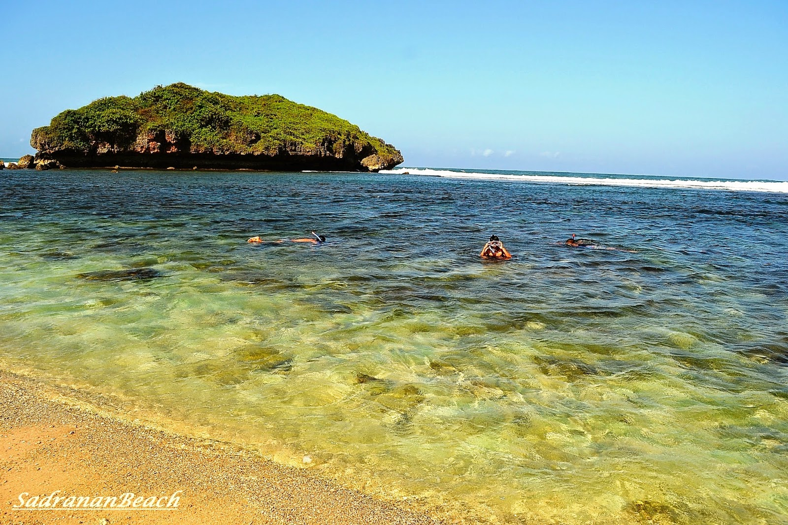 snorkeling di pantai sadran gunung kidul yogyakarta