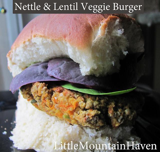 Wild Nettle & Lentil Veggie Burgers (GF & Vegan)