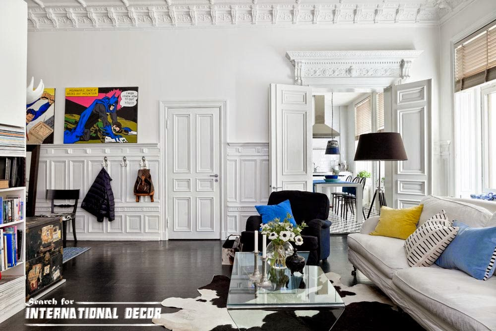molding in the interior,crown molding,wall molding,plaster decor