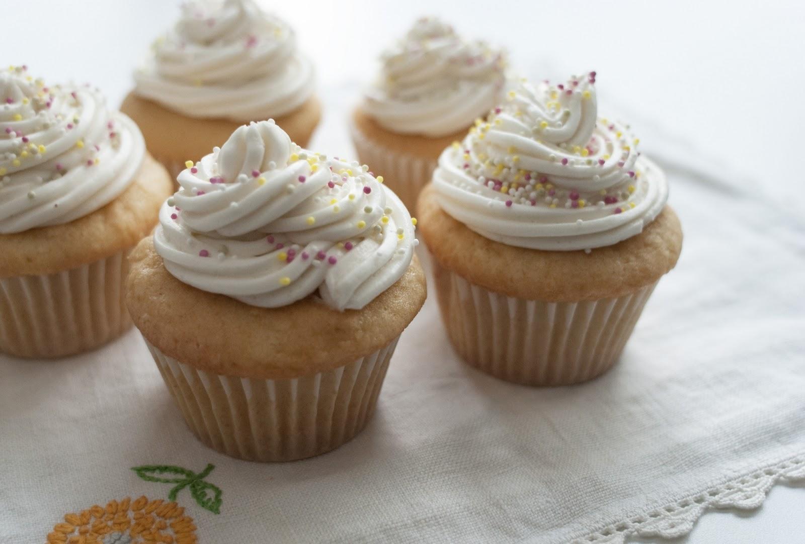 Basic White Cupcakes Recipe — Dishmaps