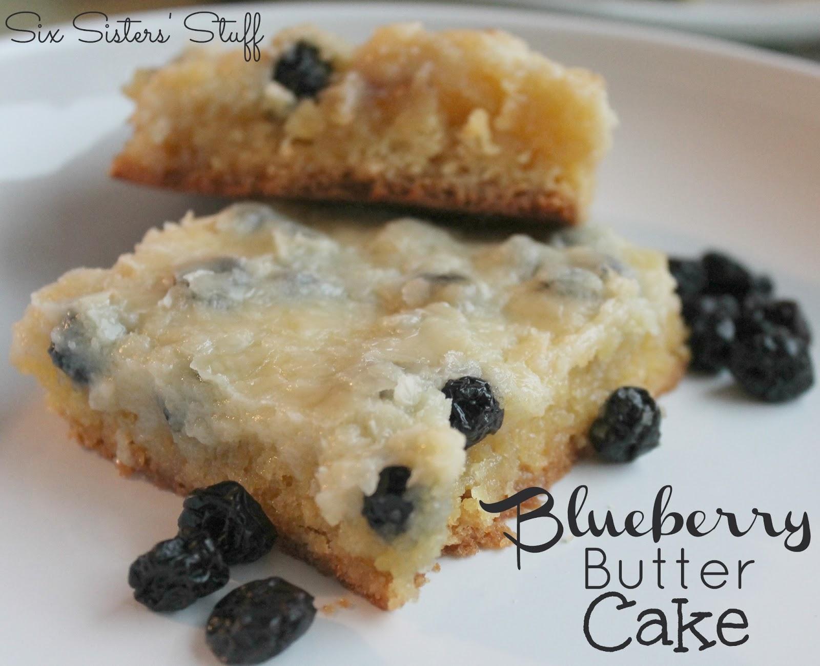 Blueberry Butter Cake | Six Sisters' Stuff