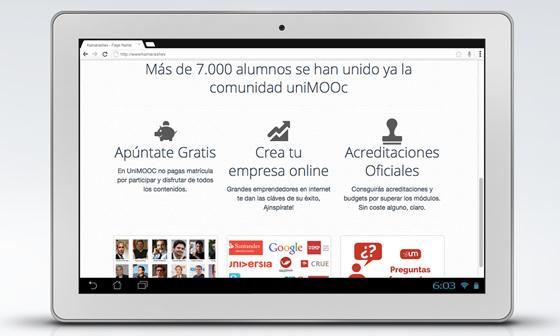 Matricúlate en UniMOOC, el curso masivo online gratis para Emprendedores