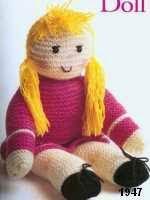 patron gratis muñeca amigurumi de punto, free knit amigurumi pattern doll
