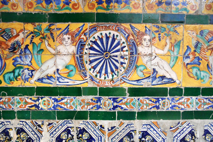 The Museum of Fine Arts of Sewilla - azulejos, angels