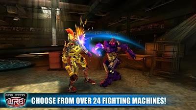 تحميل لعبة بطولة الملاكمة العالمية للروبوت الآليين للأندرويد مجاناً Real Steel World Robot Boxing-APK-3.2.43