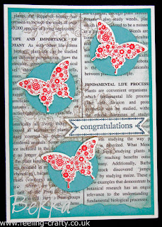 Beautiful Butterfly Congratulations Cards by Stampin' Up! Demonstrator Bekka Prideaux,  She sent these cards to people in her team - find out about joining here