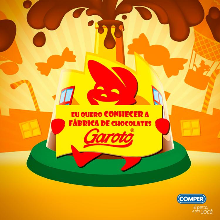 """Promoção """"Eu quero visitar a Fábrica de Chocolates Garoto"""""""