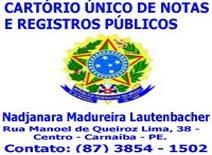 CARTÓRIO  ÚNICO DE NOTAS E REGISTROS PÚBLICOS