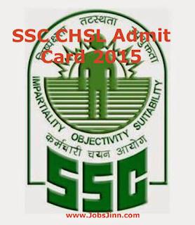 SSC CHSL Admit Card 2015