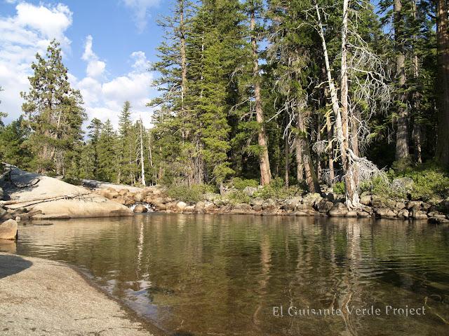 Remanso junto a Nevada Fall, Yosemite por El Guisante Verde
