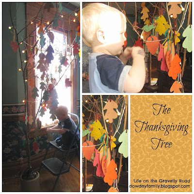 celebrating thankfulness with a thanksgiving tree