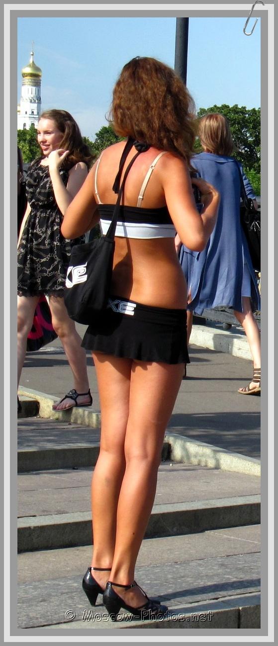 AXE Girl In Black Mini Skirt
