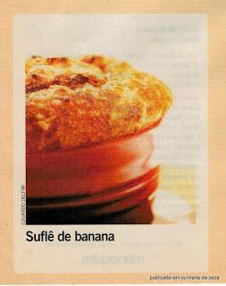 RECEITA DE SUFLÈ DE BANANA