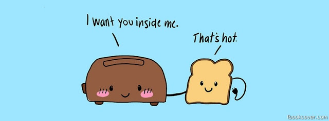 toaster and bread creative facebook cover