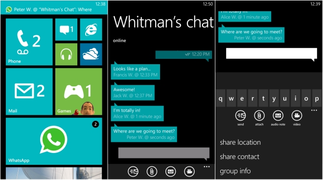 WhatsApp - популярный мессенджер для Windows Phone