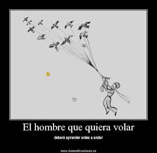 El hombre que quiera volar deberá aprender antes a andar.