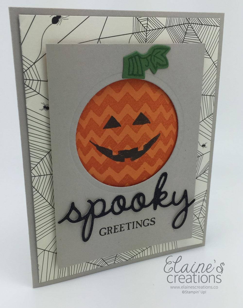 elaine's creations: spooky sparkly seasons halloween card