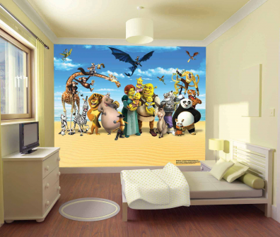 Originales murales gigantes para habitaciones de ni os - Murales en habitaciones ...
