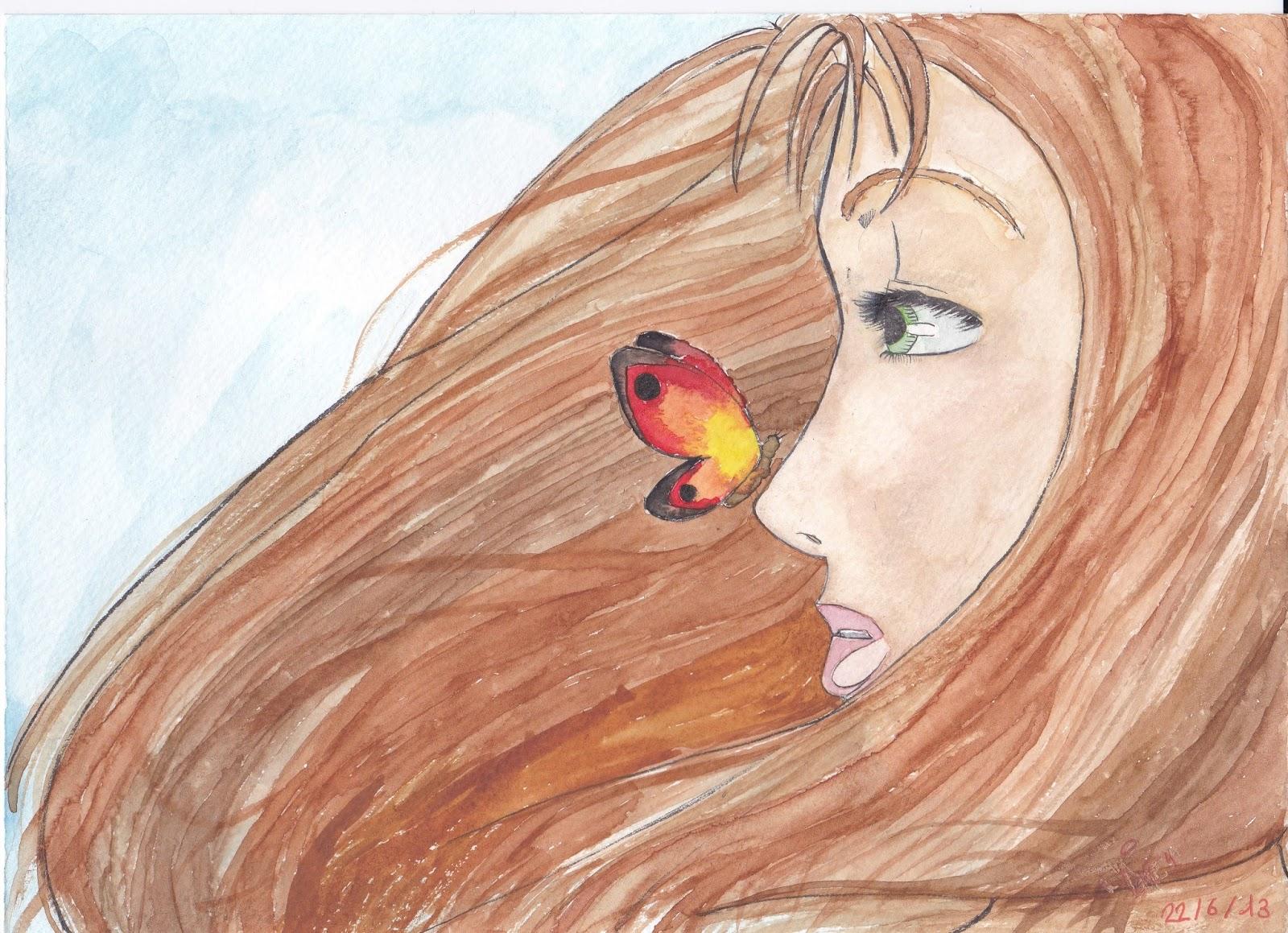 Gene Et Ses Dessins La Fille Au Papillon