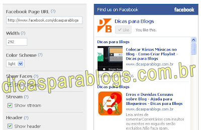 Aplicativos do Facebook para Blogs
