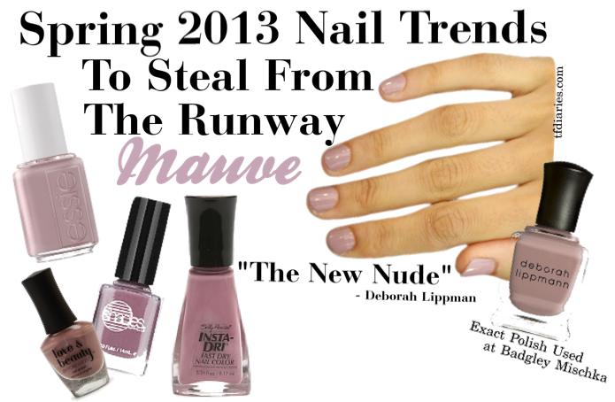 Spring 2013 Nail Polish Trends | TfDiaries By Megan Zietz