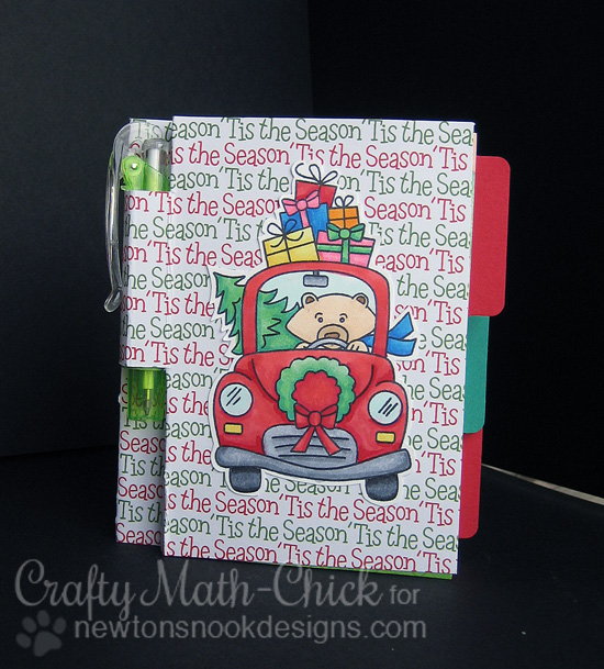 Bear Christmas Notebook by Crafty Math-Chick for Newton's Nook Designs - Winston's Home for Christmas Stamp set