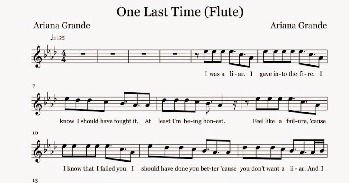 Flute Sheet Music: One Last Time - Sheet Music