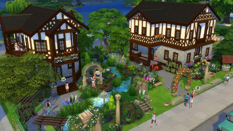 Destacados de la galer a solares de los sims 4 jard n for Sims 4 jardin romantico
