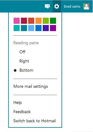 Personalização do Outlook