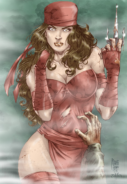 Elektra - pencil Marcio Abreu and colors Castelhano