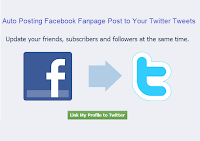 Auto Posting Facebook Fanpage Post to Your Twitter Tweets