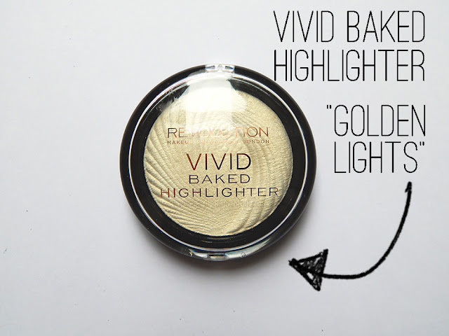 Makeup Revolution Vivid Baked Highlighter in Golden Lights