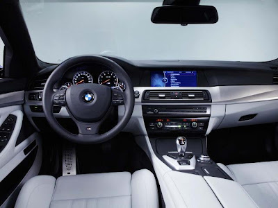 BMW M5 interior view