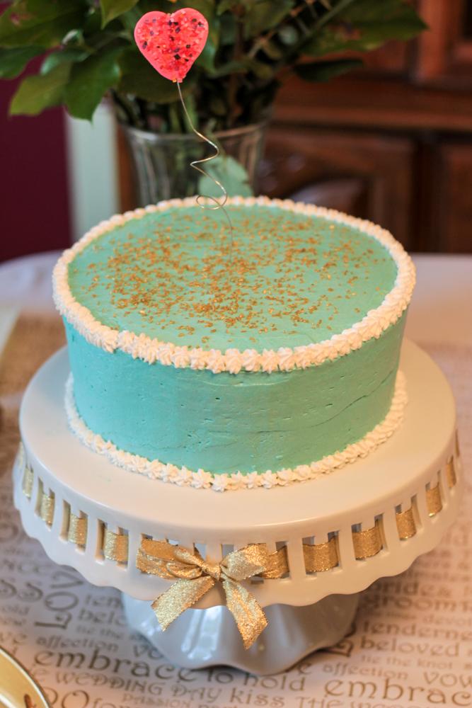 mint and gold bridal shower cake bridalshower mintandgold