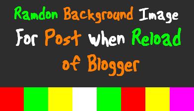 Thay đổi nền ngẫu nhiên cho blog khi refresh