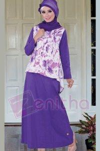 Zenitha Gamis Zn96 - Ungu [L] (Toko Jilbab dan Busana Muslimah Terbaru)