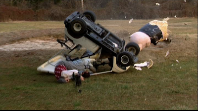 Jackass golf cart crash from first movie Johnny Knoxville concussion