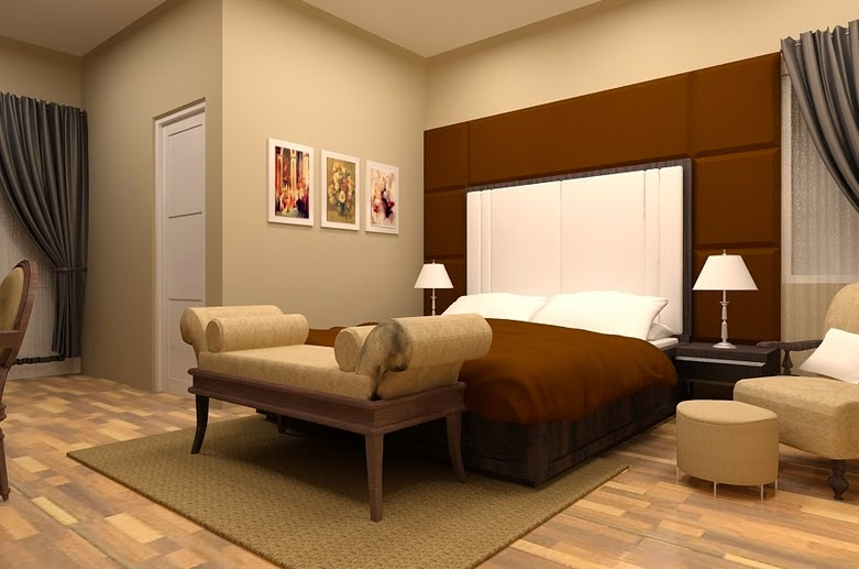 Warna cat kamar tidur utama