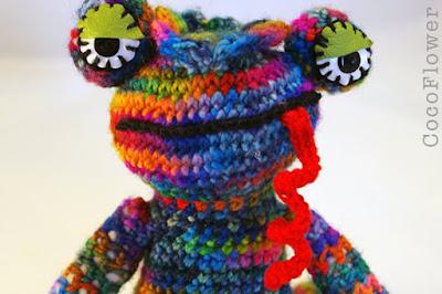 Lézard amigurumi multicolore par CocoFlower