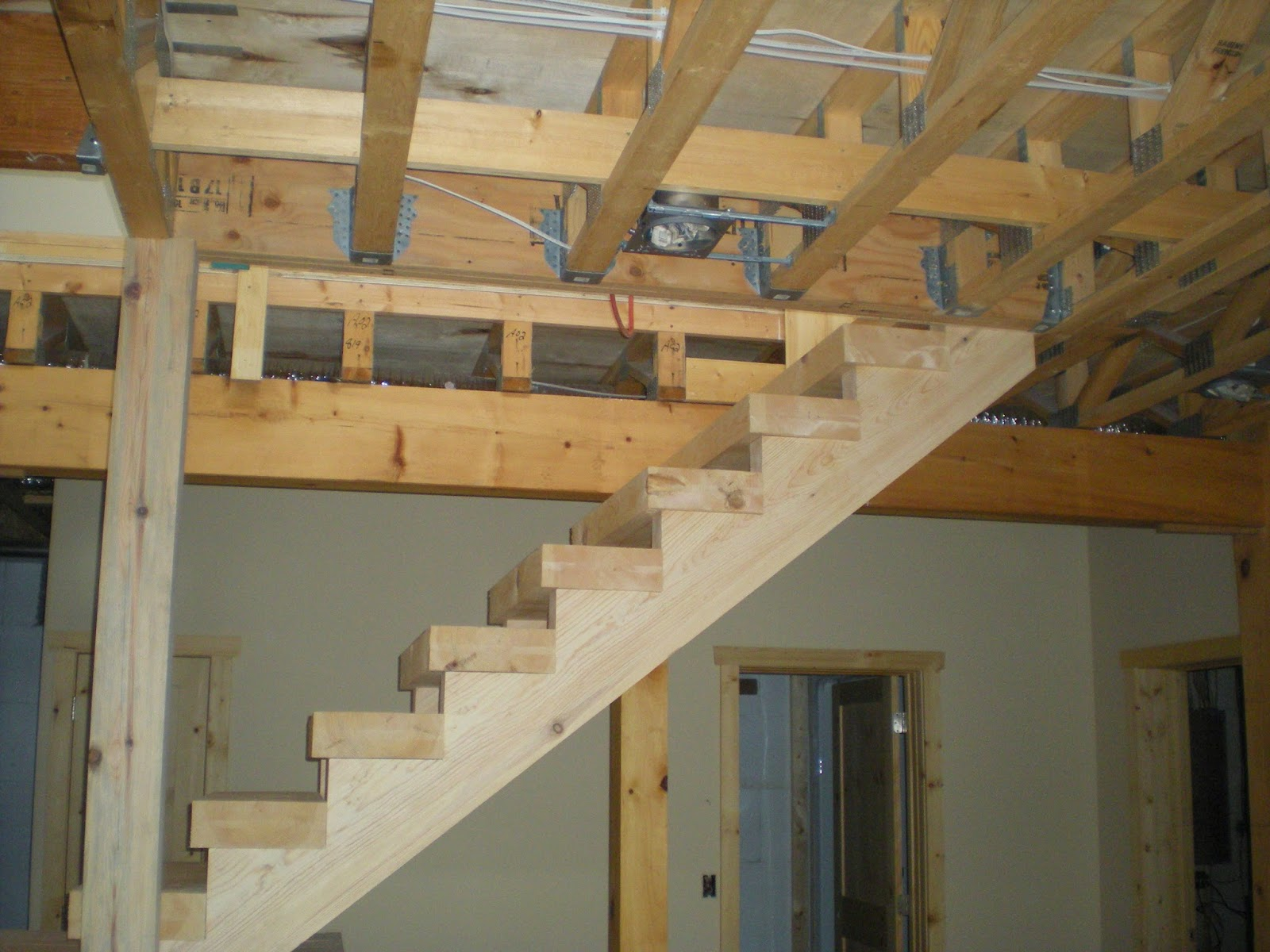 ely, minnesota, pine, timber, stairway, custom, built, huismanconcepts, ely, minneosta
