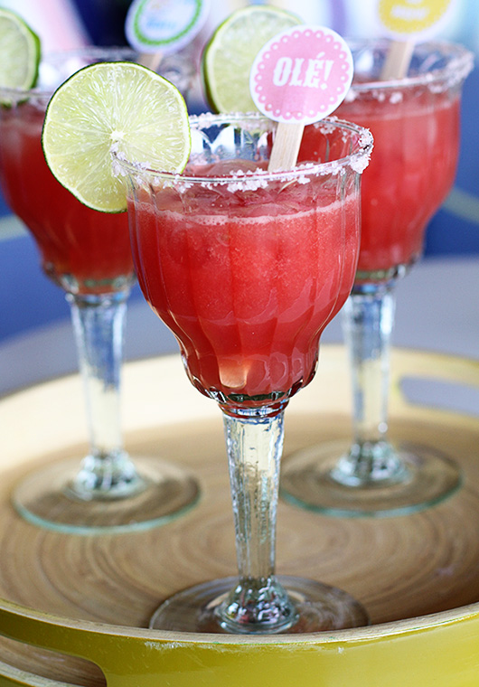 Watermelon margarita | Paper & Party Love